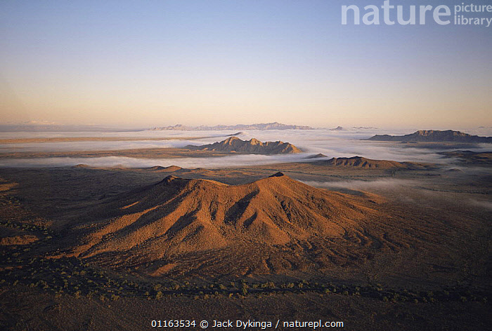 Aerial view of volcanic cinder cone of Cerro Colorado at dawn, Biosphere Reserve of Pinacate and Gran Desierto Altar, Sonora, Mexico  ,  AERIALS,CENTRAL AMERICA,DESERTS,LANDSCAPES,MEXICO,RESERVE,VOLCANOES,Geology,CENTRAL-AMERICA  ,  Jack Dykinga