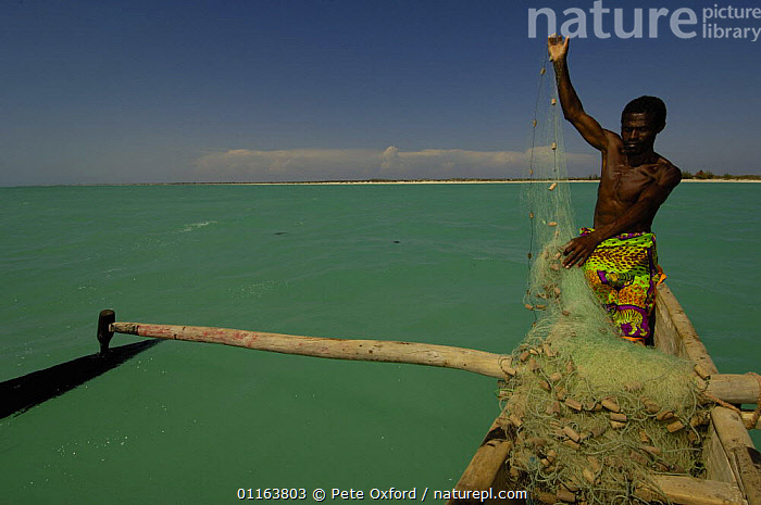 Vezo fisherman out at sea in Pirogue or outrigger canoe Beheloka Vezo fishing village. South-western MADAGASCAR 2005  ,  BOATS,COASTS,Fishing,MADAGASCAR,PEOPLE,TRADITIONAL,VERTICAL  ,  Pete Oxford