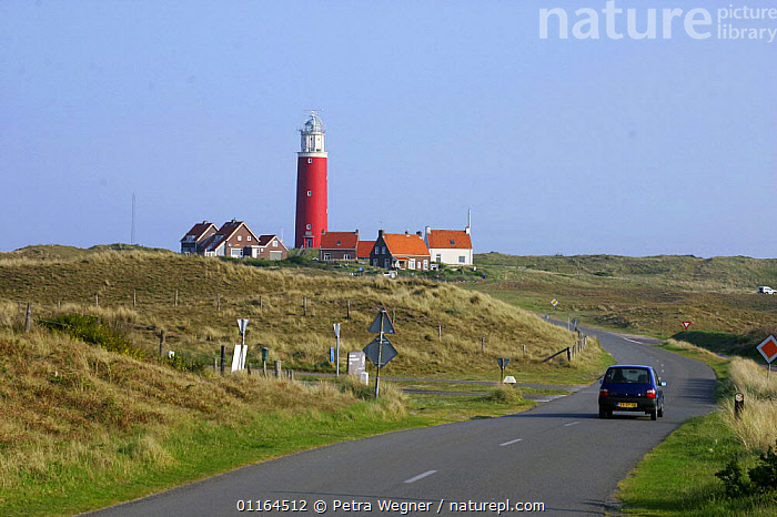 Road to Lighthouse, De Cocksdorp, Texel Island, Netherlands  ,  EUROPE,HOLLAND,landscape,ROADS,VEHICLES  ,  Petra Wegner
