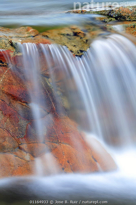 Water flowing in Stream, San martin de trevejo, Las Hurdes, Caceres, Extremadura, Spain, ABSTRACT,VERTICAL,WATER,WATERFALLS, Jose B. Ruiz