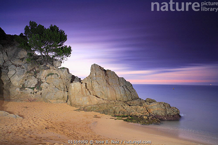 Cala Santa Crisina, Lloret de Mar, Gerona, Spain  ,  BEACHES,COASTS,EUROPE,LANDSCAPES,MEDITERRANEAN,ROCKS,SKY  ,  Jose B. Ruiz