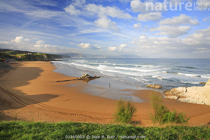 View along Atlantic coast, Soplena beach, Vizcaya, Basque country, Europe  ,  BEACHES,COASTS,EUROPE,LANDSCAPES  ,  Jose B. Ruiz