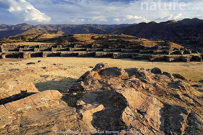 Archaeological Park of Sacsayhuaman, Cusco, Peru 2006.  ,  ANDES,BUILDINGS,INCA,LANDSCAPES,MOUNTAINS,ROCKS,RUINS,SOUTH AMERICA,SOUTH-AMERICA  ,  Juan Manuel Borrero