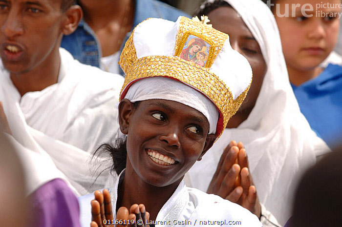 Worshippers in the christian procession of the Timkat (Epiphany), Addis Abbaba,  Ethiopia, 2006  ,  EAST AFRICA,GROUPS,PEOPLE,PORTRAITS,RELIGION,Africa,EAST-AFRICA,Catalogue1F  ,  Laurent Geslin