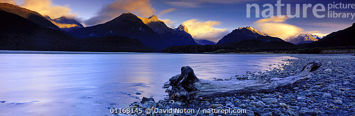 Dart River, Mt Aspiring National Park, South Island, New Zealand  ,  BEACHES,CLOUDS,LANDSCAPES,MOUNTAINS,NEW ZEALAND,PANORAMIC,PEACEFUL,RIVERS,Concepts,Weather,AUSTRALASIA  ,  David Noton