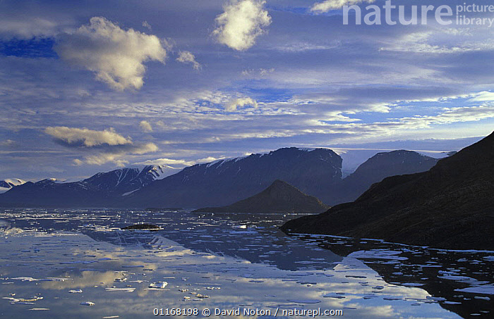Alexandra Fjord, Ellesmere Island, Canada  ,  CANADA,CLOUDS,ICE,LANDSCAPES,MOUNTAINS,NORTH AMERICA,REFLECTIONS,WATER,Weather  ,  David Noton