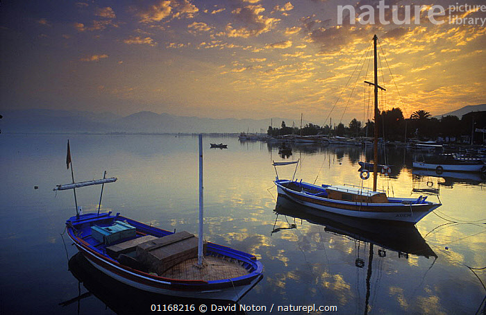 Dawn, Fethiye Harbour, Turkey  ,  BOATS,COASTS,EUROPE,LANDSCAPES,PEACEFUL,REFLECTIONS,SEA,SUNRISE,Concepts,MIDDLE-EAST  ,  David Noton