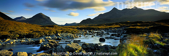 Glen Sligachan and the Cullins, Isle of Skye, Scotland, UK  ,  COASTS,EUROPE,LANDSCAPES,MOUNTAINS,PANORAMIC,SCOTLAND,UK,WATER,United Kingdom,British, United Kingdom, United Kingdom, United Kingdom  ,  David Noton
