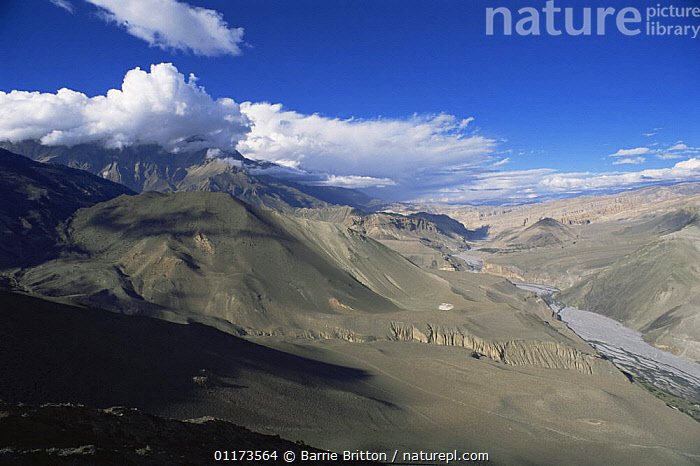 Himalayan mountain scenic, Himalayas, Nepal, c 2004, ASIA,LANDSCAPES,MOUNTAINS,NEPAL,PLANET EARTH   MOUNTAINS, Barrie Britton
