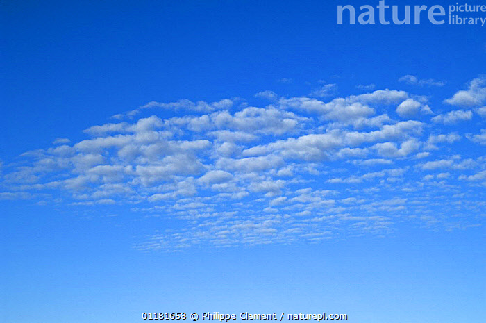 Stratocumulus undulatus clouds.  ,  BLUE,CLOUDS,SKIES,STRATOCUMULUS,WEATHER  ,  Philippe Clement