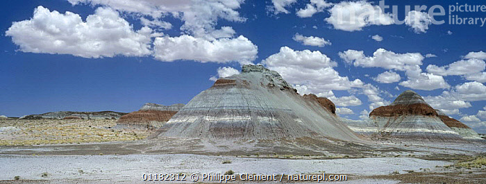 The Tepees / Cones, Painted Desert and Petrified Forest NP, Arizona, USA May 2007  ,  COLOURFUL,EROSION,GEOLOGY,LANDSCAPES,NORTH AMERICA,NORTH AMERICA,PANORAMIC,RESERVE,ROCK FORMATIONS,USA  ,  Philippe Clement