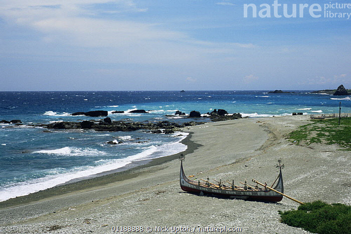 Handmade Ten-oar Plankboat built by Tao tribesmen, Hong-tou beach, Orchid Island, Taiwan  ,  ASIA,BEACHES,BOATS,COASTS,FISHING BOAT,LANDSCAPES,SEA,TAIWAN,TRADITIONAL,TRIBES  ,  Nick Upton
