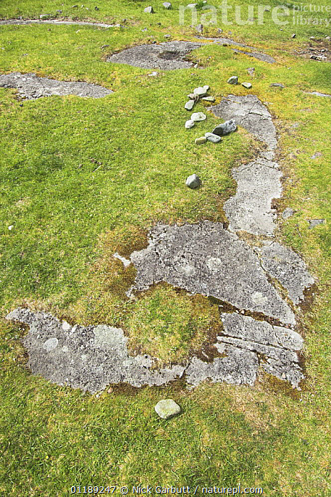 Rock formation in approximate shape of British Isles, Isle of Mull, Inner Hebrides, Scotland, UK  ,  EUROPE,HUMOROUS,MAP,ROCK FORMATIONS,SCOTLAND,UK,VERTICAL,United Kingdom,Concepts,Geology,British  ,  Nick Garbutt