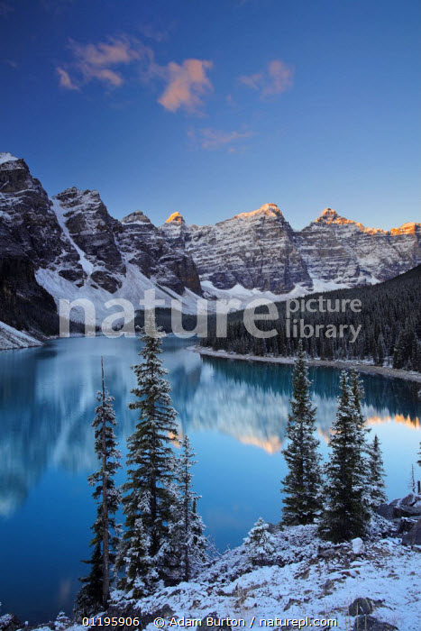 Nature Picture Library Winter At Moraine Lake Coloured