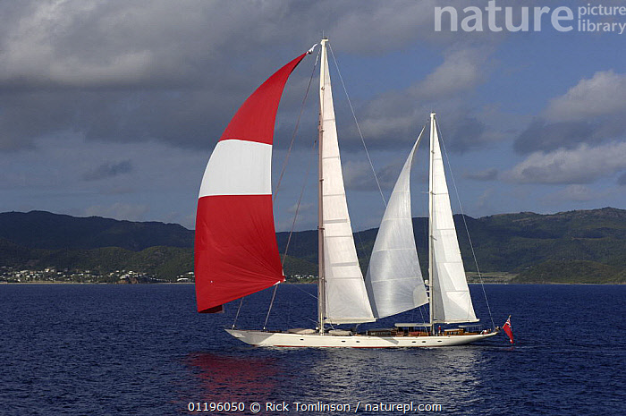 """SY """"Adele"""", 180 foot Hoek Design, underway just off the Antigua coast, January 2006. Non editorial uses must be cleared individually.  ,  ANTIGUA AND BARBUDA,BOATS,CARIBBEAN,COASTS,HORIZONTAL,KETCHES,PROFILE,SAILING BOATS,SAILS,SPINNAKERS,SUPERYACHTS,WEST INDIES,YACHTS, SAILING-BOATS , SAILING-BOATS , SAILING-BOATS , SAILING-BOATS , SAILING-BOATS , SAILING-BOATS  ,  Rick Tomlinson"""