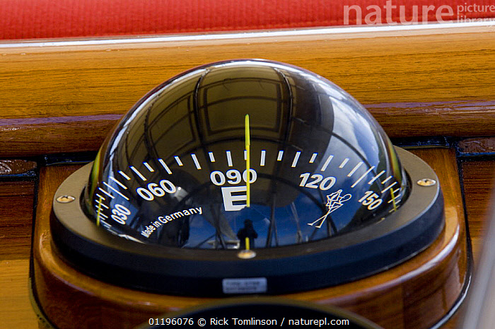 """Compass onboard SY """"Adele"""" pointing to East, 2006.  ,  ABOARD,BOATS,CLOSE UPS,COMPASSES,HORIZONTAL,KETCHES,REFLECTIONS,SAILING BOATS,SUPERYACHTS,YACHTS,BOAT-PARTS, SAILING-BOATS , SAILING-BOATS , SAILING-BOATS , SAILING-BOATS , SAILING-BOATS  ,  Rick Tomlinson"""