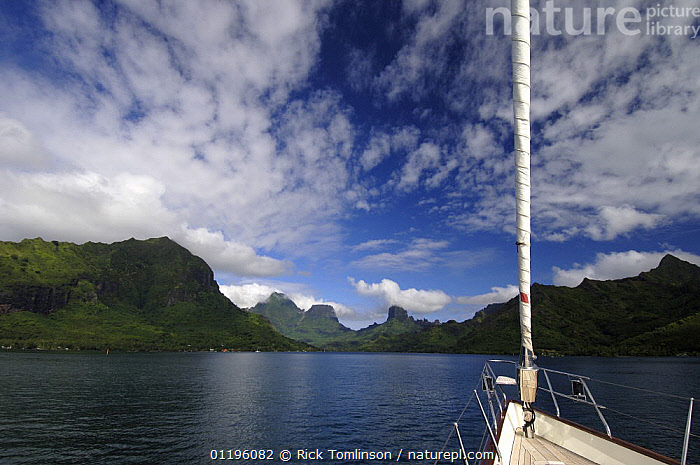 """SY """"Adele"""", 180 foot Hoek Design, approaching a volcanic island in French Polynesia Non editorial uses must be cleared individually.  ,  BOATS,BOWS,CLOUDS,COASTS,CRUISING,FOREDECKS,forestay,forestays,furler,HEADSAILS,HORIZONTAL,KETCHES,LANDSCAPES,MOUNTAINS,SAILING BOATS,SUPERYACHTS,YACHTS,Weather, SAILING-BOATS , SAILING-BOATS , SAILING-BOATS , SAILING-BOATS , SAILING-BOATS , SAILING-BOATS  ,  Rick Tomlinson"""