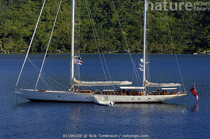 """Aerial view of SY """"Adele"""", 180 foot Hoek Design, anchored in French Polynesia, 2006.  Non editorial uses must be cleared individually.  ,  BOATS,COASTS,KETCHES,MOORED,PROFILE,RIBS,SAILING BOATS,SUPERYACHTS,TENDERS,TREES,YACHTS, SAILING-BOATS , MOTORBOATS  , OPEN-BOATS  ,PLANTS, SAILING-BOATS , MOTORBOATS  , OPEN-BOATS  , SAILING-BOATS , MOTORBOATS  , OPEN-BOATS  , SAILING-BOATS , MOTORBOATS  , OPEN-BOATS  , SAILING-BOATS , MOTORBOATS  , OPEN-BOATS  , SAILING-BOATS , MOTORBOATS  , OPEN-BOATS  ,  Rick Tomlinson"""
