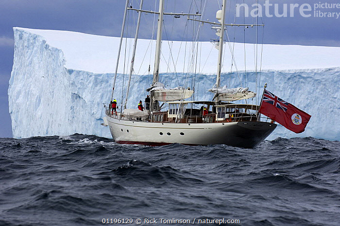 """SY """"Adele"""", 180 foot Hoek Design, exploring a tabular iceberg in rough sea, Bransfield Strait, 17 January 2007 Non editorial uses must be cleared individually.  ,  ANTARCTICA,BOATS,COASTS,FLAGS,ICEBERGS,KETCHES,POLAR,PROFILE,REAR VIEWS,SAILING BOATS,SCALE,SIZE,SUPERYACHTS,YACHTS, SAILING-BOATS , SAILING-BOATS , SAILING-BOATS , SAILING-BOATS , SAILING-BOATS , SAILING-BOATS  ,  Rick Tomlinson"""