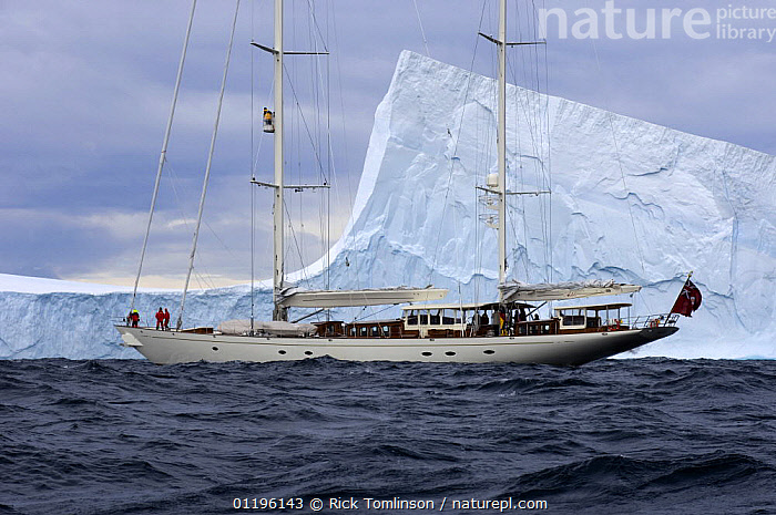 """SY """"Adele"""", 180 foot Hoek Design, explores a tabular iceberg in the Bransfield Strait, Antarctica, January 2007. Non editorial uses must be cleared individually.  ,  ANTARCTICA,BOATS,ICEBERGS,KETCHES,POLAR,PROFILE,SAILING BOATS,SUPERYACHTS,YACHTS, SAILING-BOATS , SAILING-BOATS , SAILING-BOATS , SAILING-BOATS , SAILING-BOATS , SAILING-BOATS  ,  Rick Tomlinson"""