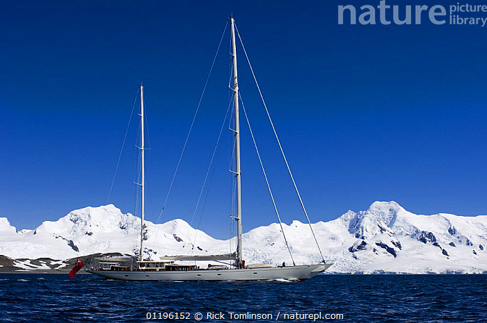 """SY """"Adele"""", 180 foot Hoek Design, motoring across McFarlane Sound past the snowy mountains on Livingston Island, Antarctica, January 2007 Non editorial uses must be cleared individually.  ,  ANTARCTICA,BOATS,COASTS,CRUISING,KETCHES,MOUNTAINS,POLAR,PROFILE,SAILING BOATS,SUPERYACHTS,YACHTS, SAILING-BOATS , SAILING-BOATS , SAILING-BOATS , SAILING-BOATS , SAILING-BOATS , SAILING-BOATS  ,  Rick Tomlinson"""