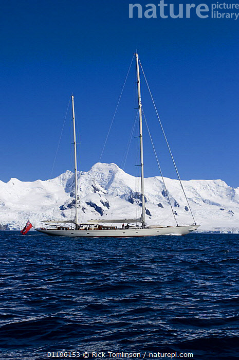 """SY """"Adele"""", 180 foot Hoek Design, motoring across McFarlane Sound past the snowy mountains on Livingston Island, Antarctica, January 2007 Non editorial uses must be cleared individually.  ,  ANTARCTICA,BOATS,COASTS,KETCHES,POLAR,PROFILE,SAILING BOATS,SUPERYACHTS,VERTICAL,YACHTS, SAILING-BOATS , SAILING-BOATS , SAILING-BOATS , SAILING-BOATS , SAILING-BOATS , SAILING-BOATS  ,  Rick Tomlinson"""