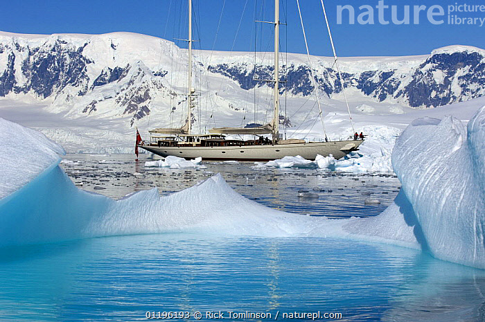 """SY """"Adele"""", 180 foot Hoek Design, motoring through the brash ice in Wilhelmina Bay, Antarctica, January 2007 Non editorial uses must be cleared individually.  ,  ANTARCTICA,BOATS,COASTS,CRUISING,Gerlache Strait,HORIZONTAL,ICEBERGS,KETCHES,MOUNTAINS,POLAR,PROFILE,SAILING BOATS,SNOW,SUPERYACHTS,TURQUOISE,YACHTS, SAILING-BOATS , SAILING-BOATS , SAILING-BOATS , SAILING-BOATS , SAILING-BOATS , SAILING-BOATS , SAILING-BOATS  ,  Rick Tomlinson"""
