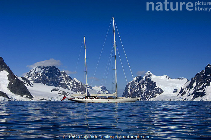 """SY """"Adele"""", 180 foot Hoek Design, motoring in the Lemaire Channel, Antarctica, January 2007 Non editorial uses must be cleared individually.  ,  ANTARCTICA,BOATS,COASTS,CRUISING,KETCHES,LANDSCAPES,MOUNTAINS,POLAR,PROFILE,SAILING BOATS,SNOW,SUPERYACHTS,YACHTS, SAILING-BOATS , SAILING-BOATS , SAILING-BOATS , SAILING-BOATS , SAILING-BOATS , SAILING-BOATS , SAILING-BOATS  ,  Rick Tomlinson"""