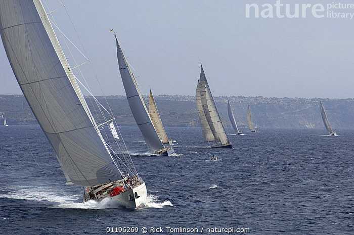 """SY """"Adele"""", 180 foot Hoek Design, at the Superyacht Cup Palma, October 2005 Non editorial uses must be cleared individually.  ,  Balearic Islands,BALEARIC ISLANDS,Bay of Palma,BOATS,COASTS,EUROPE,FLEETS,FRONT VIEWS,HORIZONTAL,KETCHES,mallorca,RACES,RACING,SAILING BOATS,SUPERYACHTS,YACHTS, SAILING-BOATS , SAILING-BOATS , SAILING-BOATS , SAILING-BOATS , SAILING-BOATS , SAILING-BOATS  ,  Rick Tomlinson"""