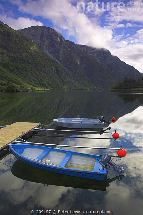 Early Morning with moored boats on Naeroyfjord, near Bakka, Sognefjord, Norway  ,  BOATS,EUROPE,fjord,fjords,LANDSCAPES,MOORED,MOUNTAINS,PONTOONS,punts,REFLECTIONS,RESERVE,rowing boats,SCANDINAVIA,TENDERS,UNESCO,VERTICAL, Scandinavia, Scandinavia, OPEN-BOATS  , Scandinavia, OPEN-BOATS  , Scandinavia, OPEN-BOATS  , Scandinavia, OPEN-BOATS  , Scandinavia, OPEN-BOATS  ,  Peter Lewis