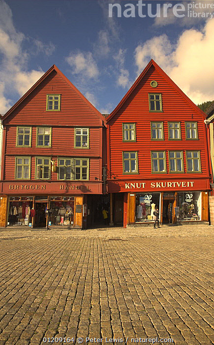 Bryggen in Bergen, with wooden buildings facing the quay. UNESCO World Heritage Site, Norway  ,  BUILDINGS,CITIES,cobbles,COLOURFUL,EUROPE,LANDSCAPES,SCANDINAVIA,shops,TOWNS,VERTICAL,WOODEN, Scandinavia, Scandinavia, Scandinavia, Scandinavia, Scandinavia, Scandinavia  ,  Peter Lewis