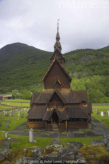 Borgund Stave Church, built in 1180 by the Vikings, near Bergen, Norway  ,  ancient,BUILDINGS,CHURCHES,CITIES,EUROPE,LANDSCAPES,Medieval,OLD,SCANDINAVIA,TRADITIONAL,VERTICAL,WOODEN, Scandinavia  ,  Peter Lewis