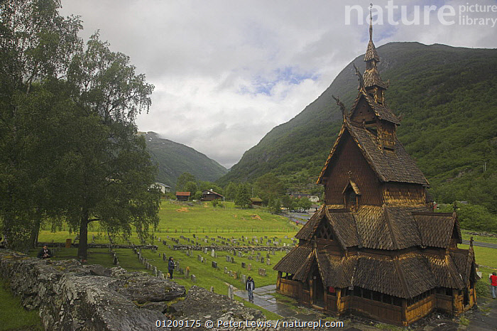 Borgund Stave Church, built in 1180 by the Vikings, near Bergen, Norway  ,  ancient,BUILDINGS,CHURCHES,CITIES,EUROPE,LANDSCAPES,Medieval,OLD,SCANDINAVIA,TRADITIONAL,WOODEN, Scandinavia  ,  Peter Lewis