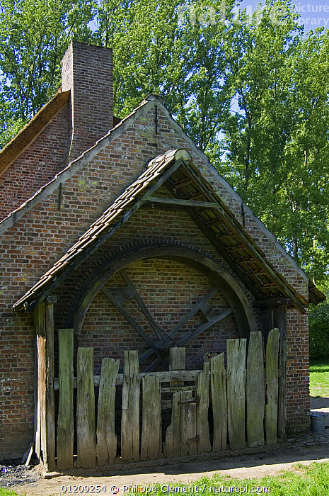 Traditional Belgian house with treadmill for dog, Open air museum, Bokrijk, Belgium, 2008.  ,  BELGIUM,BUILDINGS,EUROPE,VERTICAL  ,  Philippe Clement