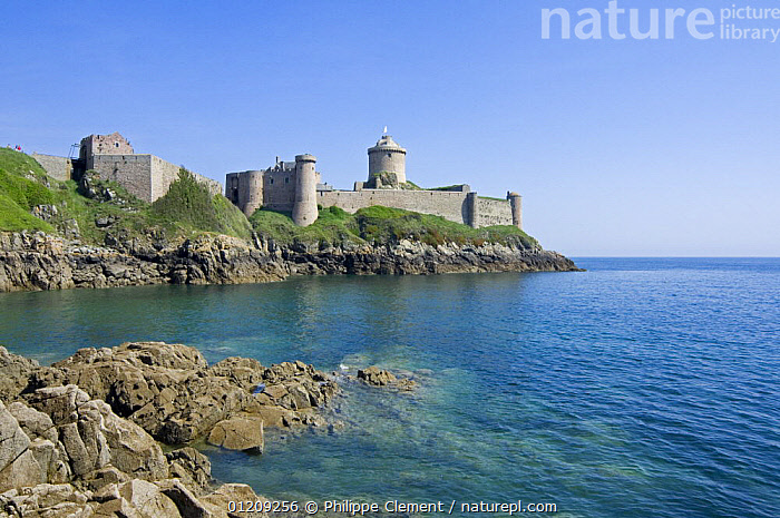 Fort la Latte, fortress at Cap Frehel, Brittany, France. May 2008.  ,  BUILDINGS,COASTS,EUROPE,FRANCE,LANDSCAPES  ,  Philippe Clement