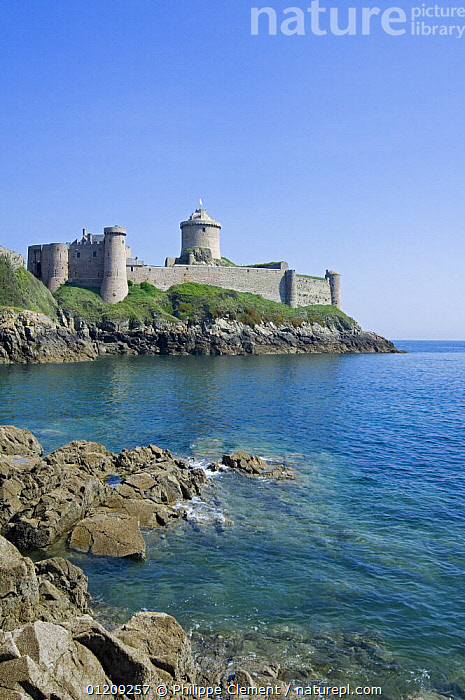 Fort la Latte, fortress at Cap Frehel, Brittany, France. May 2008.  ,  BUILDINGS,COASTS,EUROPE,FRANCE,LANDSCAPES,VERTICAL  ,  Philippe Clement