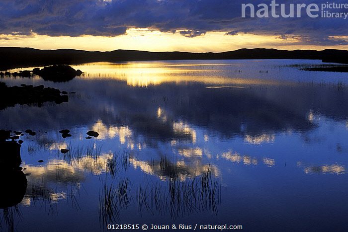 Sunset over Loch Lurgainn, Highlands, Scotland, UK, ARTY,EUROPE,LAKES,LANDSCAPES,REFLECTIONS,SCOTLAND,UK,WATER,United Kingdom,British, United Kingdom, United Kingdom, Jouan & Rius