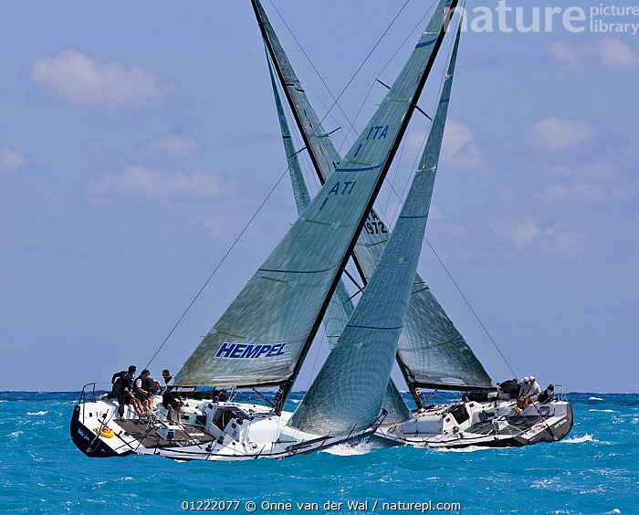 Miami Acura Grand Prix, Key West, Florida. 2009., BOATS,Florida,MANOEUVRES,PRODUCTION YACHTS,RACES,RACING,SAILING BOATS,shapes,two,USA,YACHTS,North America, Onne van der Wal