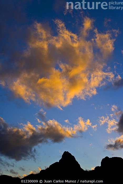 Gilbo mountain at sunrise, Picos de Europa NP, Riano, Leon, Northern Spain  October 2006, CANTABRIAN MOUNTAINS,CLOUDS,EUROPE,LANDSCAPES,MOUNTAINS,NP,RESERVE,SILHOUETTES,SPAIN,SUNRISE,VERTICAL,Weather,National Park, Juan Carlos Munoz