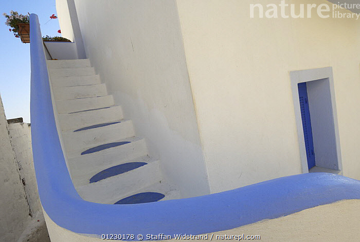 External steps at hotel, Amorgos, Greece, June 2007, ABSTRACT,ARTY,BUILDINGS,EUROPE,GREECE,MEDITERRANEAN,STAIRS,TOURISM, Staffan Widstrand