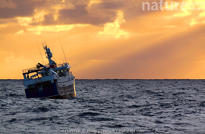 Trawler at sunset on the North Sea, September 2009.  Property released.  ,  ASPIRATIONS,BOATS,CLOUDS,EUROPE,FISHERIES,FISHING BOATS,HEELING,North Sea,REAR VIEWS,sunlight,SUNSET,TRAWLERS,Concepts,Weather, WORKING-BOATS , WORKING-BOATS , WORKING-BOATS , WORKING-BOATS  ,  Philip Stephen