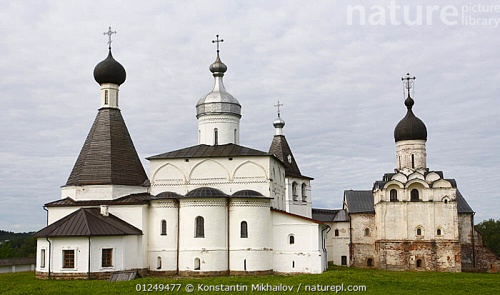 Ferapontov Monastery, founded by Sain Ferapont in 1398, Russky Sever NP, Vologda Province, Russia, July 2008  ,  BUILDINGS,CHURCHES,EUROPE,LANDSCAPES,RUSSIA  ,  Konstantin Mikhailov
