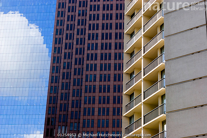 Abstract apartment and office buildings, Philadelphia, Pennsylvania, USA, ABSTRACT,apartment building,architecture,ARTY SHOTS,BUILDINGS,CATALOGUE2,CITIES,cloud,full frame,MODERN,Nobody,office building,outdoors,Pannsylvania,Philadelphia,reflection,REFLECTIONS,residential building,SKY,skyscrapers,URBAN,USA,window,North America, Michael Hutchinson