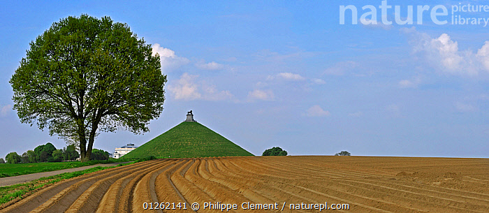 The Lion Hill, the main memorial monument of the Battle of Waterloo, Eigenbrakel, Belgium  ,  BELGIUM,EUROPE,FIELDS,HISTORICAL,LANDSCAPES,MEMORIALS,TREES,WARS,PLANTS  ,  Philippe Clement