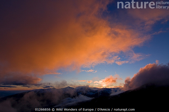 Clouds above Mount Pol'sk� Tomanov� (1,977m) at sunset, Western Tatras, Carpathian Mountains, Slovakia, June 2009  ,  BRUNO D'AMICIS,CLOUDS,EASTERN EUROPE,EUROPE,LANDSCAPES,MOUNTAINS,SKY,SLOVAKIA,SUNSET,WWE,Weather  ,  Wild Wonders of Europe / D'Amicis