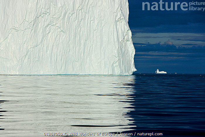 Icebergs, Disko Bay, Greenland, August 2009  ,  ARCTIC,DISCOBAY,EUROPE,GREENLAND,ICE,ICEBERGS,KAI JENSEN,LANDSCAPES,REFLECTIONS,WHITE,WWE  ,  Wild Wonders of Europe / Jensen