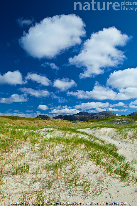 Traigh Uuige sand dunes, Androil Beach, Lewis, Outer Hebrides, Scotland, UK, June 2009, CLOUDS,EUROPE,JUAN CARLOS MU�OZ,LANDSCAPES,SAND DUNES,UK,VERTICAL,WWE,Weather,SCOTLAND, United Kingdom, Wild Wonders of Europe / Muñoz