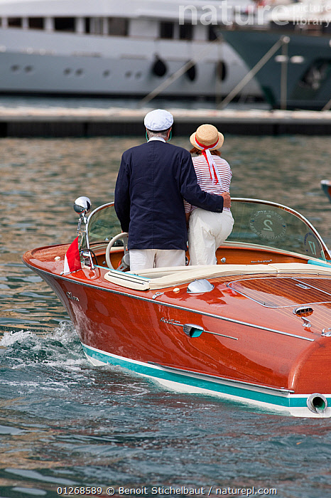 Nature Picture Library - Classically dressed couple on Riva
