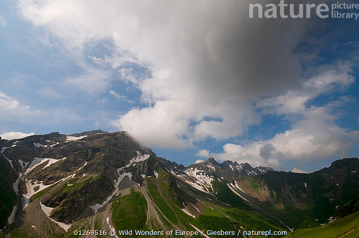Grauspitz (2,599m) the highest mountain in Liechtenstein, June 2009  ,  ALPINE,ALPS,CLOUDS,EDWIN GIESBERS,EUROPE,LANDSCAPES,LIECHTENSTEIN,MOUNTAINS,WWE,Weather  ,  Wild Wonders of Europe / Giesbers