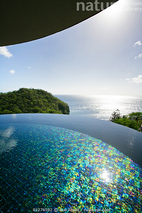 Nature Picture Library - Infinity edge swimming pool looking ...
